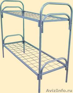 кровати металлические одноярусные для санаториев, двухъярусные для рабочих, опт - Изображение #2, Объявление #695571