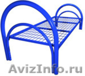 кровати металлические одноярусные для санаториев, двухъярусные для рабочих, опт - Изображение #5, Объявление #695571