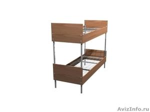 Кровати трёхъярусные для времянок, кровати металлические для бытовок, оптом - Изображение #1, Объявление #1478861