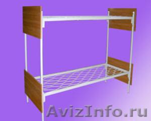 Кровати трёхъярусные для времянок, кровати металлические для бытовок, оптом - Изображение #4, Объявление #1478861