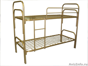 Кровати трёхъярусные для времянок, кровати металлические для бытовок, оптом - Изображение #7, Объявление #1478861