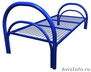 Кровати трёхъярусные для времянок, кровати металлические для бытовок, оптом - Изображение #2, Объявление #1478861