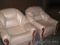 Мягкая мебель из натуральной кожи.