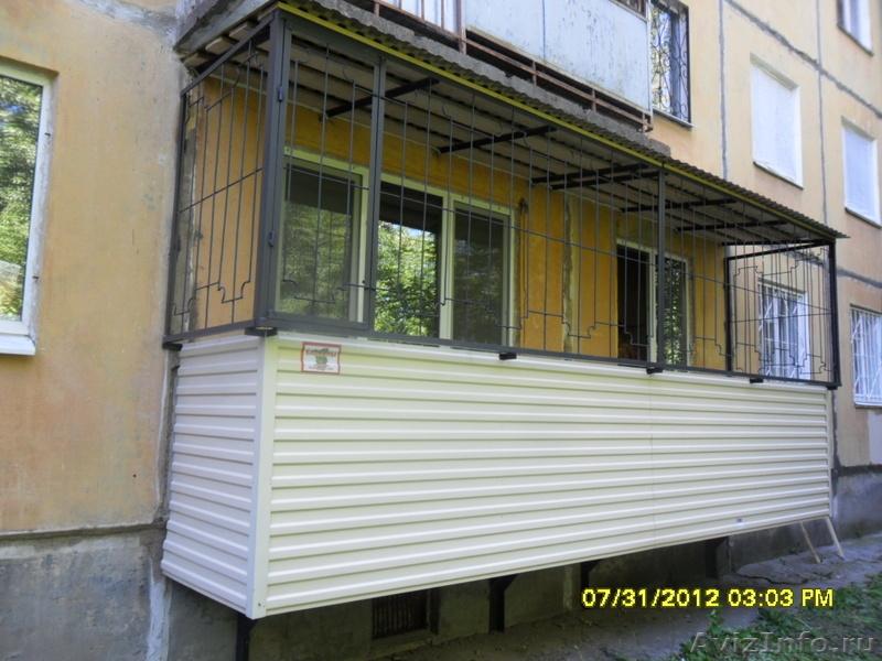 Пермь - строительство балконов и лоджий на первых этажах с р.